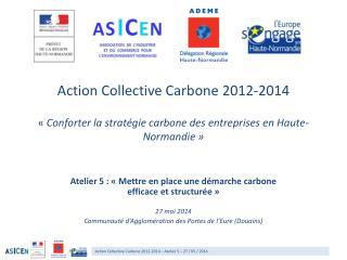 Atelier 5 : « Mettre en place une démarche carbone  efficace et structurée» 27 mai 2014