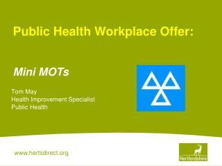Tom May Health Improvement Specialist Public Health