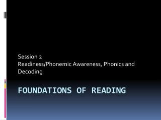 Foundations of Reading