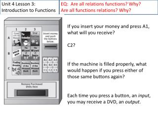 Unit 4 Lesson 3: Introduction to Functions