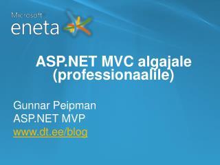 ASP.NET MVC algajale (professionaalile)