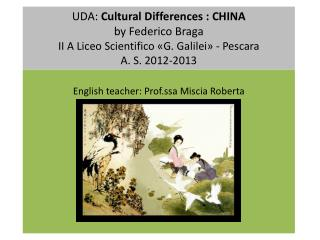 English  teacher : Prof.ssa  Miscia  Roberta