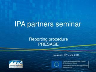 IPA partners seminar