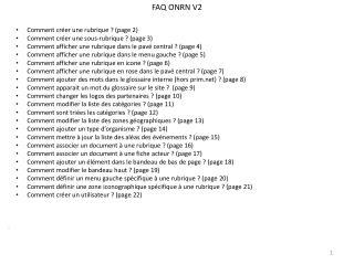 FAQ ONRN V2