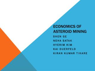 Economics of  asteroid mining
