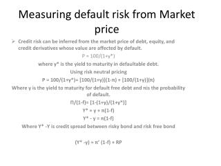 Measuring default risk from Market price