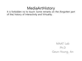 MAAT Lab Ph.D Geun -Young, An