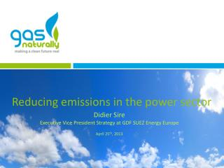 Reducing emissions in the power sector