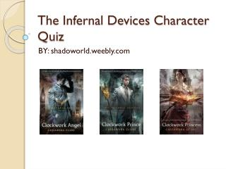 The Infernal Devices Character Quiz