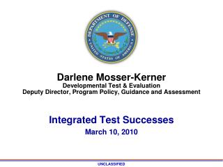 Integrated Test  Successes March 10, 2010