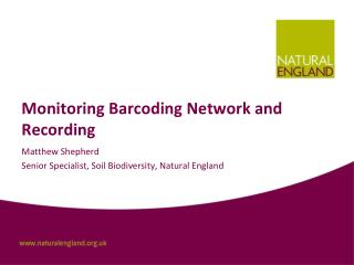 Monitoring  Barcoding Network and Recording