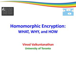 Homomorphic Encryption: WHAT, WHY, and HOW