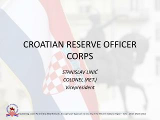 CROATIAN RESERVE OFFICER CORPS