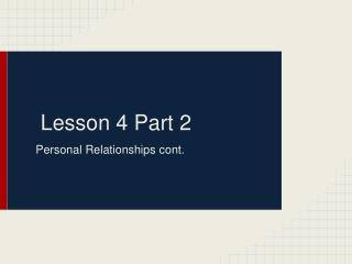 Lesson 4 Part 2