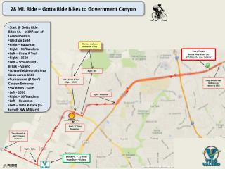 28 Mi. Ride –  Gotta  Ride Bikes to Government Canyon