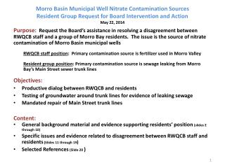 History of Nitrate Concentrations in Morro Basin  Well 03