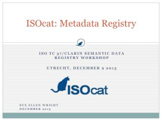 ISOcat: Metadata Registry