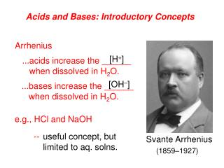 Acids and Bases: Introductory Concepts