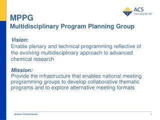 MPPG Multidisciplinary Program Planning Group