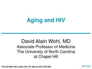 Aging and HIV