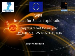 WP5 Impact for Space exploration
