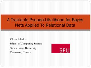 A Tractable Pseudo-Likelihood for Bayes Nets Applied To Relational Data