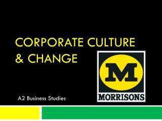 Corporate Culture & Change