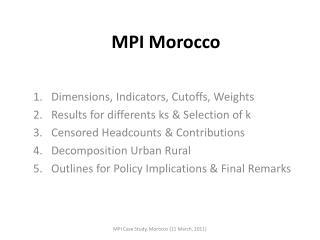 MPI  Morocco