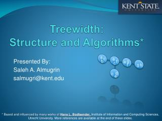 Treewidth :  Structure  and  Algorithms*