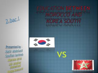 Education  between morocco  and  korea south