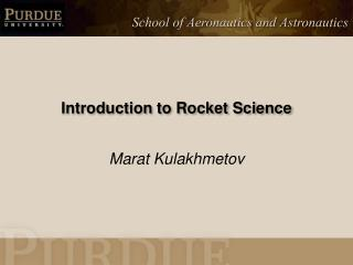 Introduction to Rocket Science