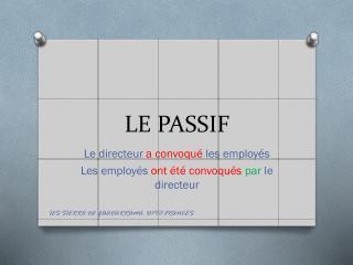LE PASSIF