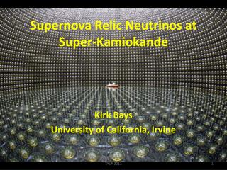 Supernova Relic Neutrinos at Super-Kamiokande