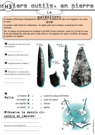 Les premiers outils, en pierre taill�e