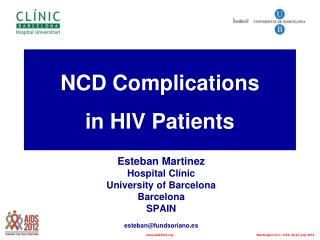 NCD Complications in HIV Patients