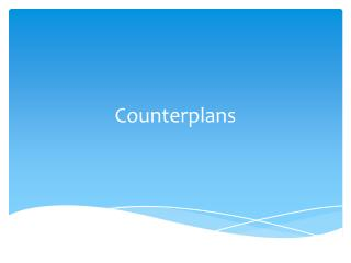 Counterplans