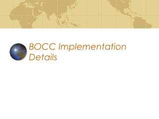 BOCC Implementation Details Basket of Construction Components ...