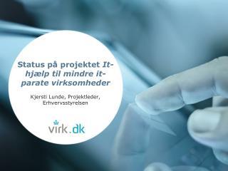 Status på projektet  It-hjælp til mindre it-parate  virksomheder