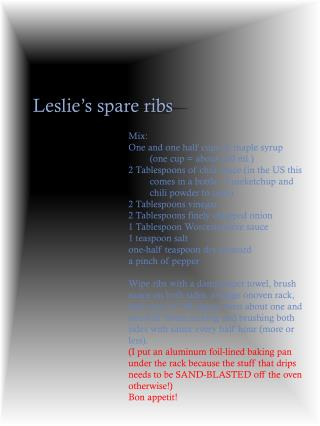 Leslie's  spare  ribs