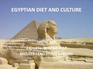 EGYPTIAN DIET AND CULTURE