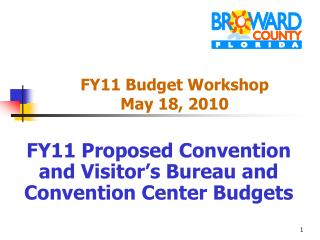 FY11 Budget Workshop  May 18, 2010