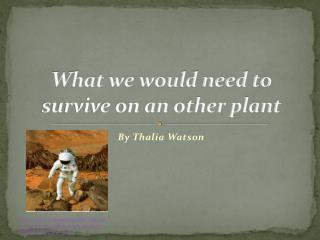 What we would need to survive on an other plant