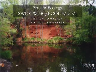 Stream Ecology  SWES/WFSC/ECOL 471/571