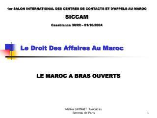 Le Droit Des Affaires Au Maroc