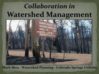 Collaboration  in Watershed  Management
