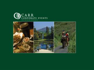 WHY CARR CORPORATE EVENTS