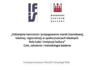 Fundacja  Instytutu Filozofii i Socjologii PAN