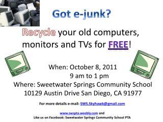 Got e-junk?