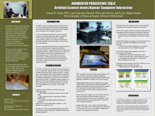 AUGMENTED PROCESSING  TABLE Archival Science meets Human-Computer Interaction