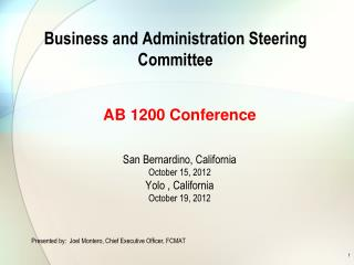 Business and Administration Steering Committee
